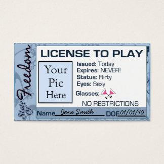 Licença jogar, para divorciar-se o favor de cartão de visitas