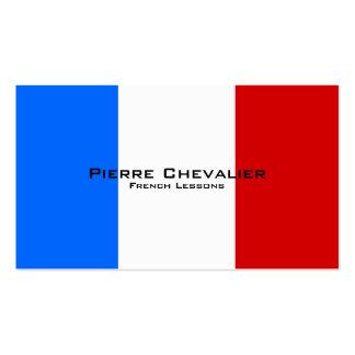 Lições francesas/professor francês cartão de visita