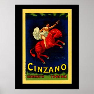 Licor do italiano do poster do art deco de