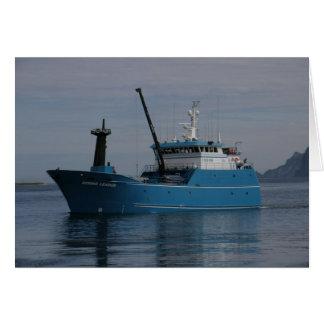 Líder de Bering palangreiro no porto holandês AK Cartão