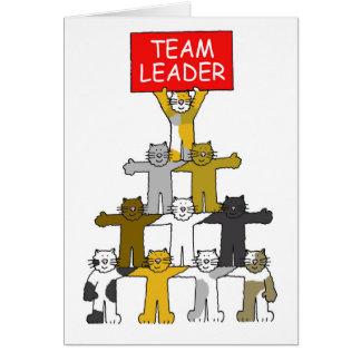 Líder de equipe cartão comemorativo