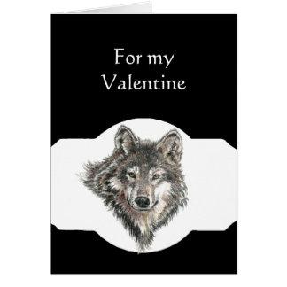 Líder do amor do sócio dos namorados do lobo do cartão comemorativo