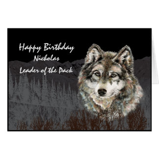 Líder do cartão de aniversário conhecido feito sob