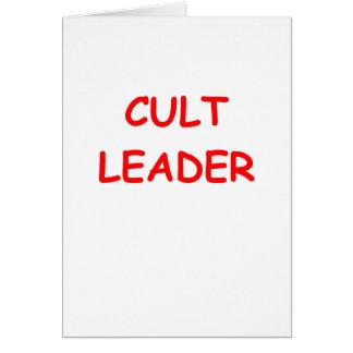 líder do culto cartões