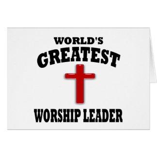Líder do culto cartão