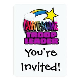 Líder impressionante da tropa do arco-íris da convites personalizados