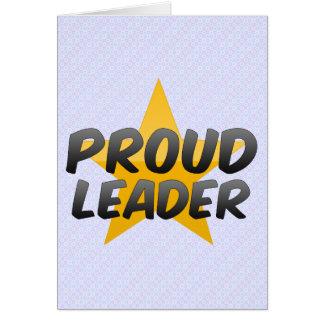 Líder orgulhoso cartoes