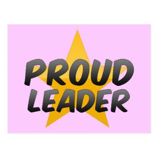 Líder orgulhoso cartão postal