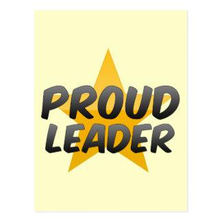 Líder orgulhoso cartao postal