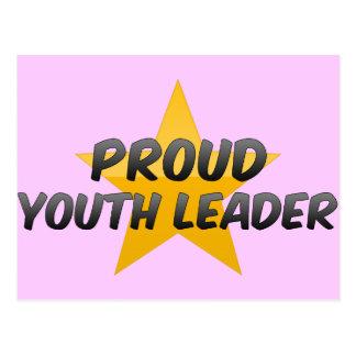 Líder orgulhoso da juventude cartão postal