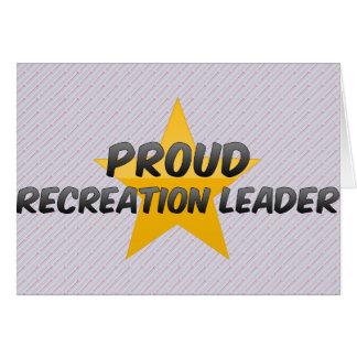 Líder orgulhoso da recreação cartoes