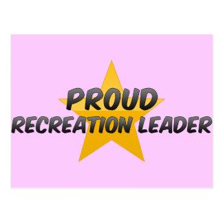 Líder orgulhoso da recreação cartões postais