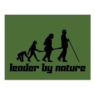 Líder por natureza cartão postal