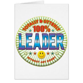 Líder totalmente cartao