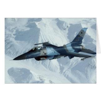 LÍDER VERMELHO DO CÃO F-16 CARTÃO COMEMORATIVO