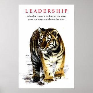 Liderança do tigre inspirador pôster