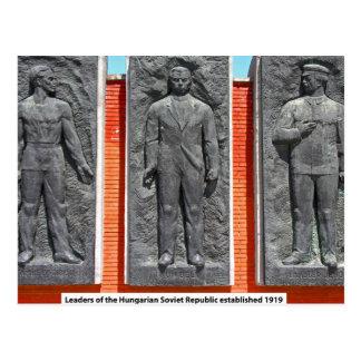 Líderes da república soviética húngara cartao postal