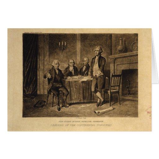 Líderes do congresso continental por A. Tholey Cartão