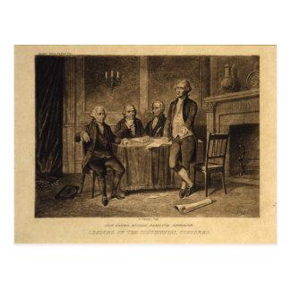 Líderes do congresso continental por A. Tholey Cartão Postal