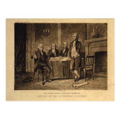 Líderes do congresso continental por A. Tholey Cartoes Postais