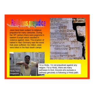 Lifeskills cidadania preconceito religioso cartoes postais