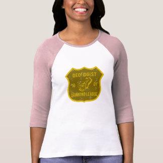 Liga do bebendo do geólogo camiseta