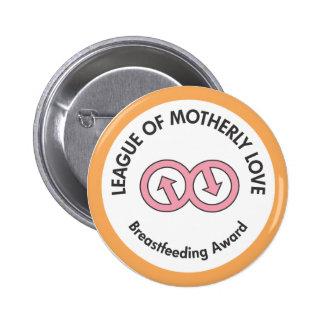 Liga do botão maternal do amor botons