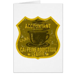 Liga do vício da cafeína do contador cartão comemorativo