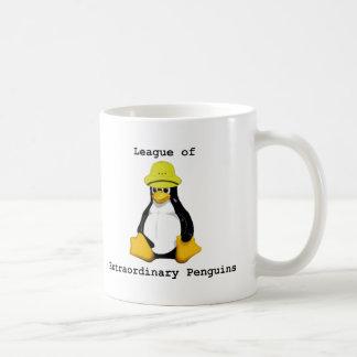 Liga dos pinguins extraordinários 2 caneca de café