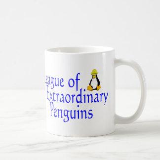 Liga dos pinguins extraordinários 4 caneca de café