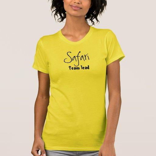 Ligação da equipe do safari t-shirt