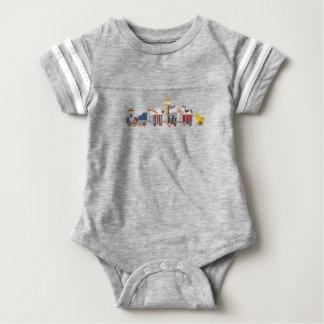 Ligação em ponte do trem do bebê body para bebê