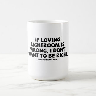 Lightroom. de amor caneca