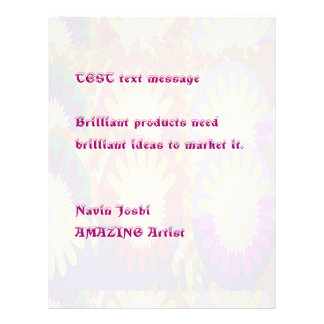 Lightshade floral - personalize ou compre o vazio flyer 21.59 x 27.94cm