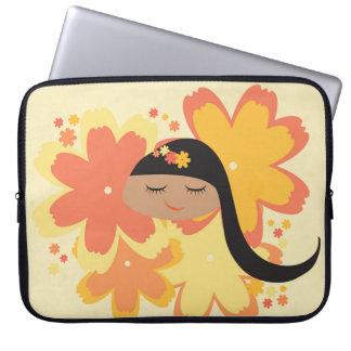 Lil Girlies - senhorita Alaranjado Posy Capas Para Computadores