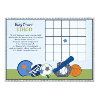 Lil/jogo pequeno do Bingo do chá de fraldas do Convite 12.7 X 17.78cm