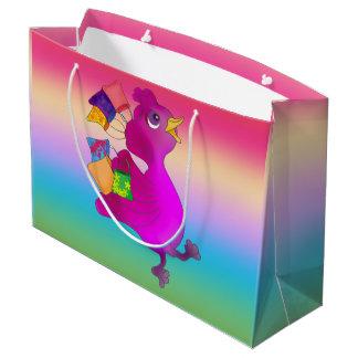 Lila ama comprar pelos Feliz Juul Empresa Sacola Para Presentes Grande