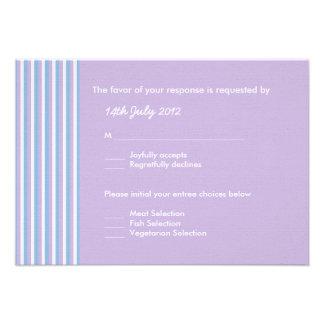 Lilac branco das listras do Lilac azul que Wedding