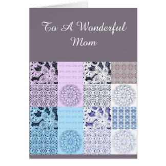 Lilac de Beautifu e cartão do laço para uma mãe