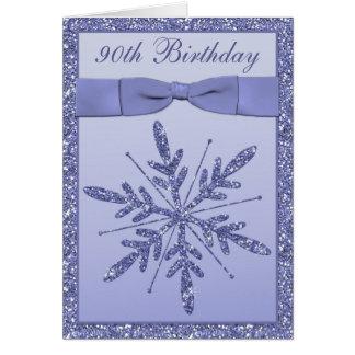 Lilac do cartão   do convite de aniversário do 90