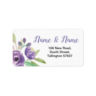 Lilac floral da flor roxa bonito das etiquetas de