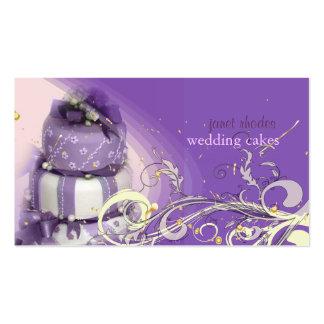 Lilac/lavanda/bolo de chocolate, padaria cartões de visitas