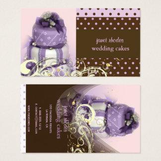 Lilac/lavanda/bolo de chocolate, padaria cartão de visitas