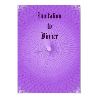 Lilac Plafond Convite 12.7 X 17.78cm