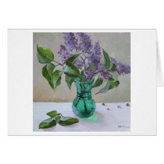 Lilacs - cartão vazio
