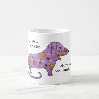 Lilás cão caneca de café