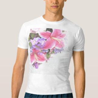 Lilium da flor do vintage camiseta