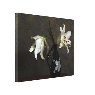 lillies em um impressão das canvas do vaso