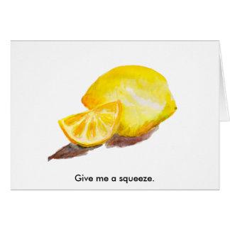 Limão Cartão Comemorativo