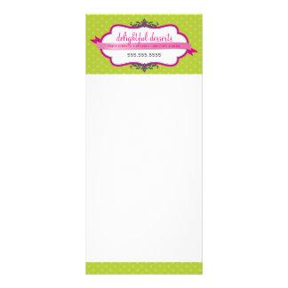 Limão cor-de-rosa à moda do logotipo RELATIVO À 10.16 X 22.86cm Panfleto
